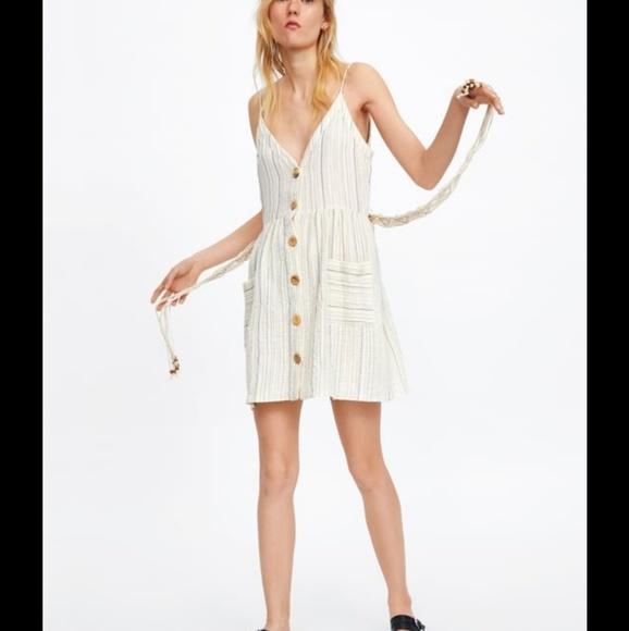 Zara Dresses & Skirts - NWT Zara Striped Dress Beaded Belt 2890/771